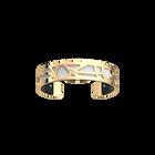 Fleurs du Nil Bracelet, Gold finish, Black / White image number 2