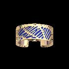 Zébrures Bracelet, Gold finish, Royal Blue / Mermaid Pink image number 1