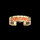 Éventail Bracelet, Gold finish, Multicoloured Glitter / Tangerine image number 2