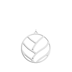 Tresse Pendant round 45 mm, Silver finish image number 1