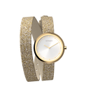 Cream / Gold Glitter Wraparound Watch, Gold finishes image number 4