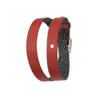 Wraparound leather strap Brick / Reptile, Rose gold finish buckle image number 1