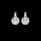 Girafe Sleeper 16 mm Earrings, Silver finish image number 1