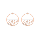 Nénuphar Hoop 43 mm Earrings, Rose gold finish image number 1