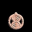 Pendentif Faucon Rond 45 mm, Finition dorée rose image number 1
