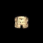 Hiboux ring 12 mm, Gold finish image number 1