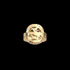 Bague ronde Girafe 16 mm, Finition dorée image number 1