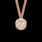 Collier Perroquet, Finition dorée rose, Noir / Blanc image number 2