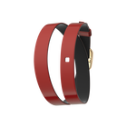 Wraparound leather strap Patent Red / Black , Gold finish buckle image