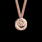 Collier Fougères, Finition dorée rose, Rose Clair / Gris Clair image number 2
