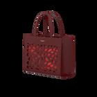 Burgundy Sac à Main Dentelle Bag, Girafe pattern - Metallic Red lining image number 2