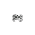 Faucon Ring, Silver finish, Black / White image number 1