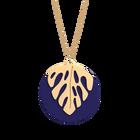 Monstera Necklace, Gold finish - Indigo / Eggshell image number 1