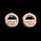 Boucles d'Oreilles Nénuphar, Créoles 30 mm, Finition dorée rose image number 1