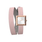 Light Pink / Light Grey Wraparound Watch, Rose Gold finishes image number 3