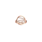 Liens ring Round 16 mm, Rose gold finish image number 1