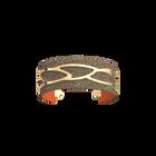 Plumage Bracelet, Gold finish, Multicolored Glitter / Tangerine image number 2
