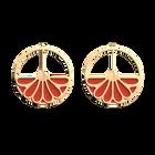 Boucles d'oreilles Créoles Bleuet, Finition dorée, Perle Bleue / Tomette image number 3