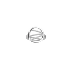Liens ring Round 16 mm, Silver finish image number 1