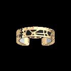 Fleurs du Nil Bracelet, Gold finish, Black / White image number 1