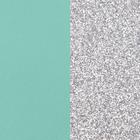 Leather insert, Aqua / Silver Glitter image number 1