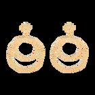 Boucles d'oreilles Etoile, Finition Dorée image number 1