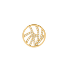 Perroquet token Round 16 mm, Gold finish, cubic zirconia image number 1