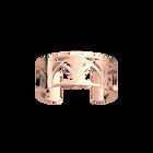 Manchette Amulette 25 mm, Finition dorée rose image number 1