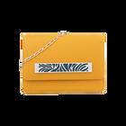 Mustard Yellow Le Premier Bijou Bag, Silver Perroquet decorative plaque image number 1