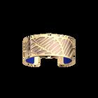 Zébrures Bracelet, Gold finish, Royal Blue / Mermaid Pink image number 2
