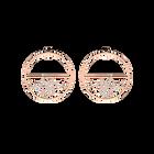 Boucles d'oreilles Pétales, Créoles 43 mm, Finition dorée rose image number 1