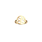 Bague Fougères 16 mm, Finition dorée image number 1