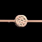 Bracelet chaîne Fougères 25 mm, Finition dorée rose image number 1