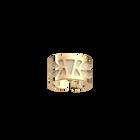 Ibiza Ring, Gold finish, Cream / Gold Glitter image number 1