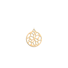 Nénuphar Pendant round 25 mm, Gold finish image number 1