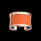 Manchette Pure, Finition dorée rose, Plumetis / Orange Vernis image number 3