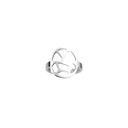 Girafe ring Rond 16 mm, Silver finish image number 1