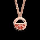 Collier Perroquet, Finition dorée rose, Perle Bleue / Tomette image number 2