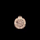 Pendentif Pétales Rond 25 mm, Finition dorée rose image number 1