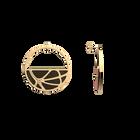 Boucles d'oreilles Créoles Fleurs du Nil, Finition dorée, Blush / Bronze image number 4