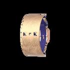 Bracelet Cuir Bleu Outremer / Rose Sirène, boucle dorée rose image number 1
