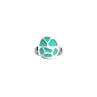 Bague Girafe, Finition argentée, Rose Clair / Turquoise image number 2
