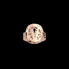 Ibiza ring Round 16 mm, Rose gold finish image number 1