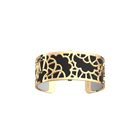 Fleurs de Mariage Bracelet, Gold finish, Black / White image number 1