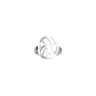Perroquet ring Rond 16 mm, Silver finish image number 1