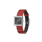 Patent Red / Black Watch, Silver Finishes image number 1