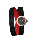 Black Glitter / Red Wraparound Watch, Rose Gold finishes image number 4