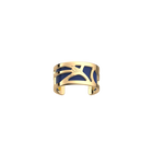Fleurs du Nil Ring, Gold finish, Sun / Navy blue image number 2