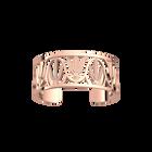 Manchette Paon 25 mm, Finition dorée rose image number 1