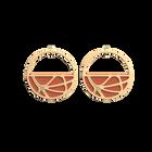 Boucles d'oreilles Créoles Fleurs du Nil, Finition dorée, Blush / Bronze image number 1